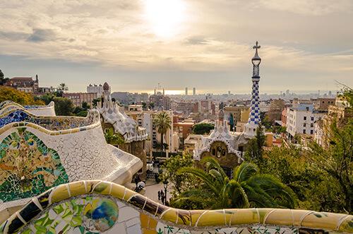 Vue Barcelone parc guell