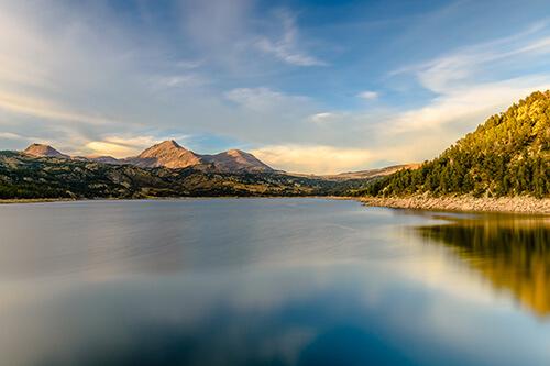 lac été font romeu paysage