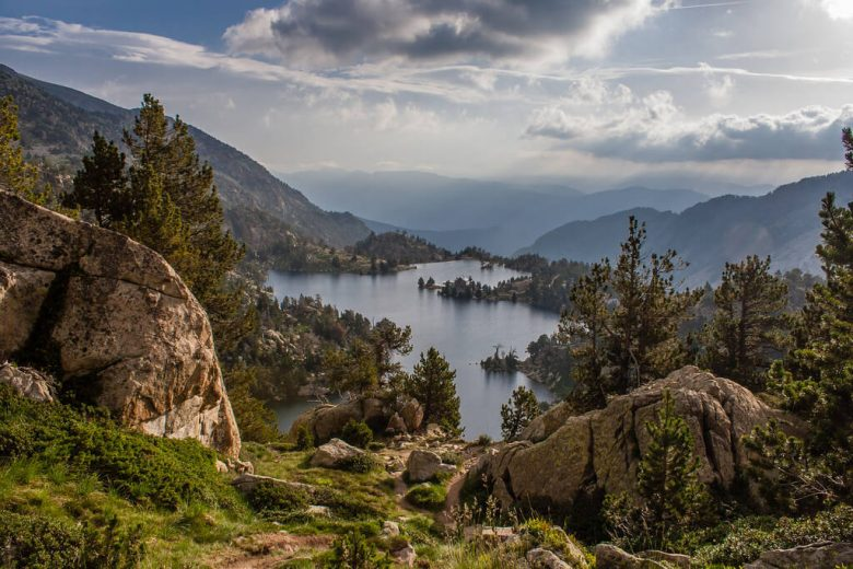 Vue lac nature paysage