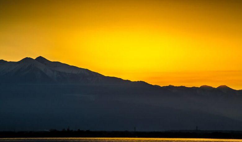 sunset montagne canigou
