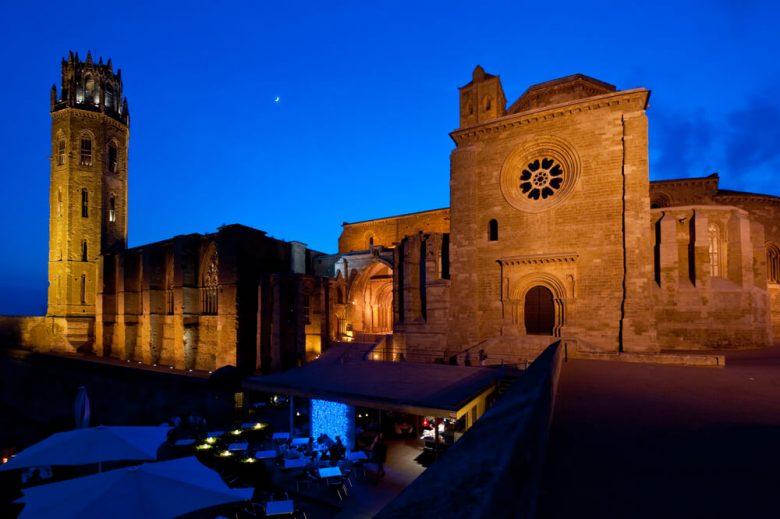 Lérida nuit cathédrale