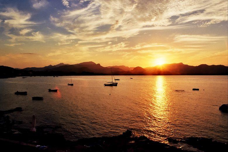 Barcarès couché de soleil mer