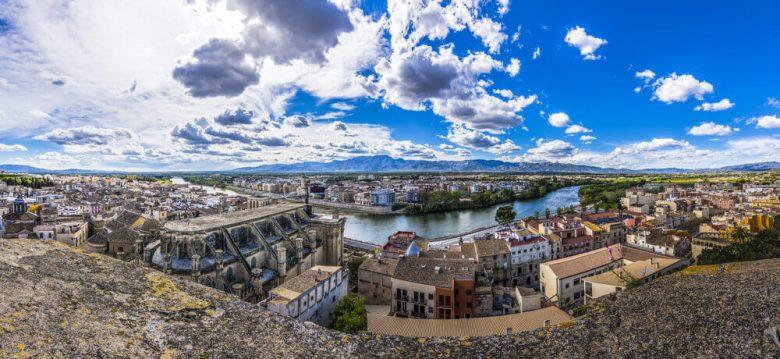 Tortosa panorama vue ville catalunya