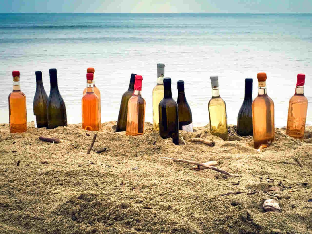 bouteilles_mer_Canet_sable
