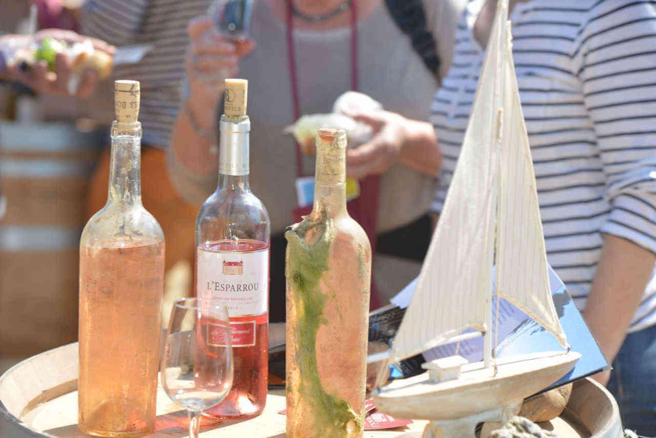 Dégustation vin bateau