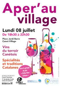 Canet-Village apéritif vin manger Pyrénées Orientales Occitanie gastronomie