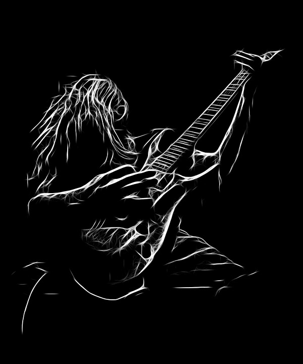 music rock guitare dessin