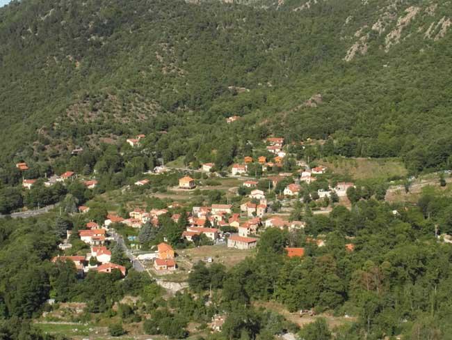Vue panoramique villages Catalans