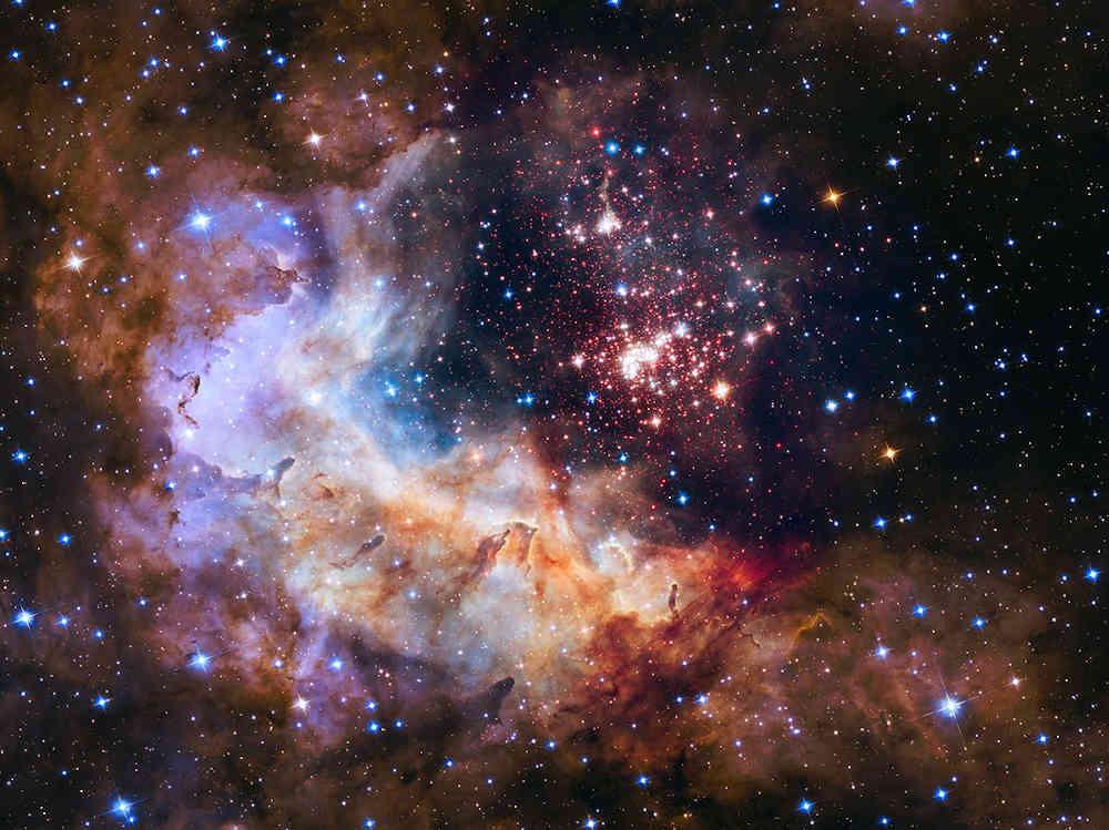 étoiles nuit univers lumières étoile filante