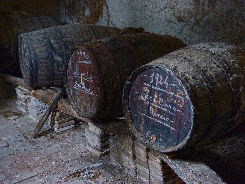 tonneaux vin sec spécialité catalane