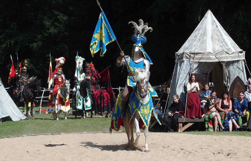 Chevalier combat Pays Catalan