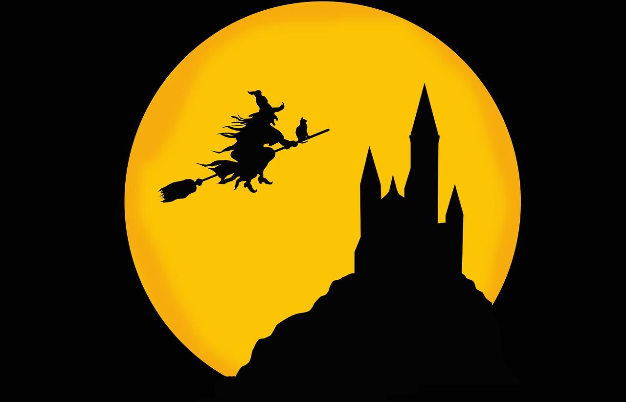 sorcière vol nuit balais