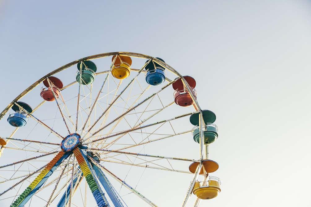 roue colorée gerone catalogne