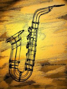 saxo instrument dessin