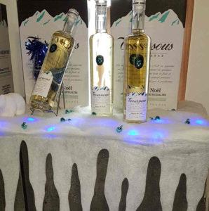 bouteilles vin blanc muscat noël