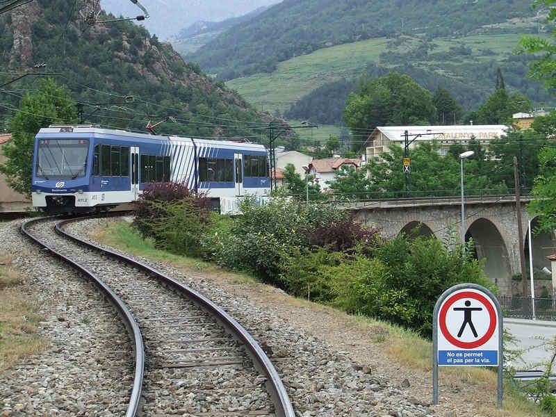 transport arrivée vallée de nuria tren