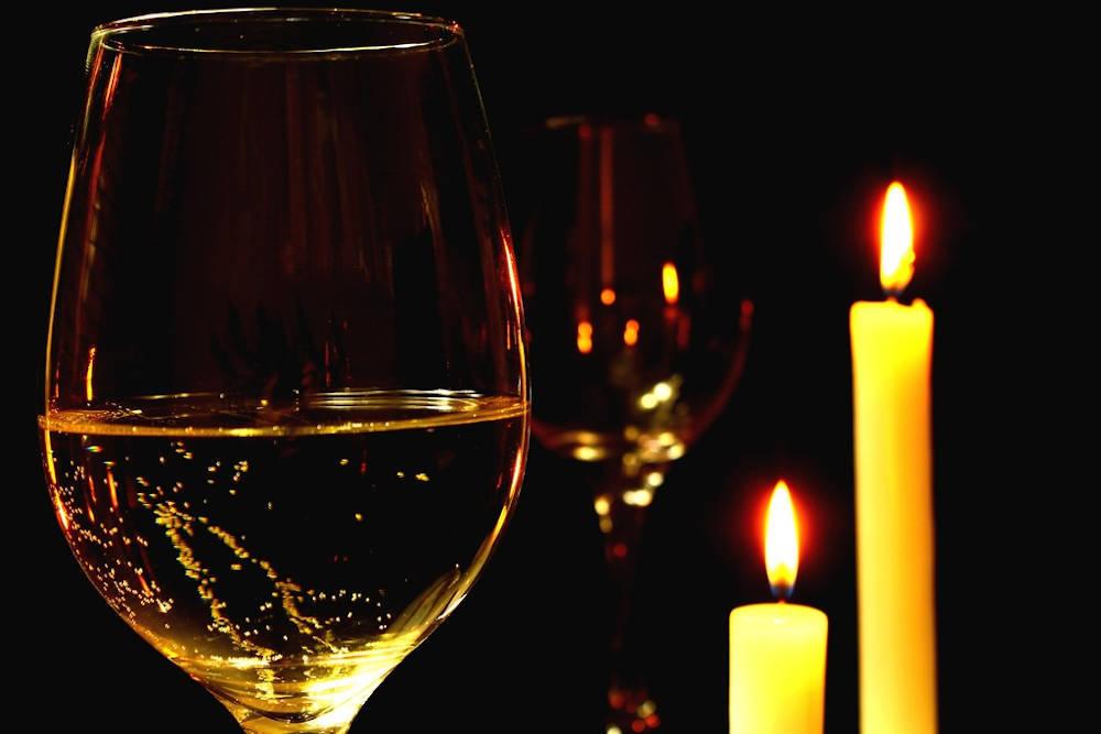 verre vin blanc noël