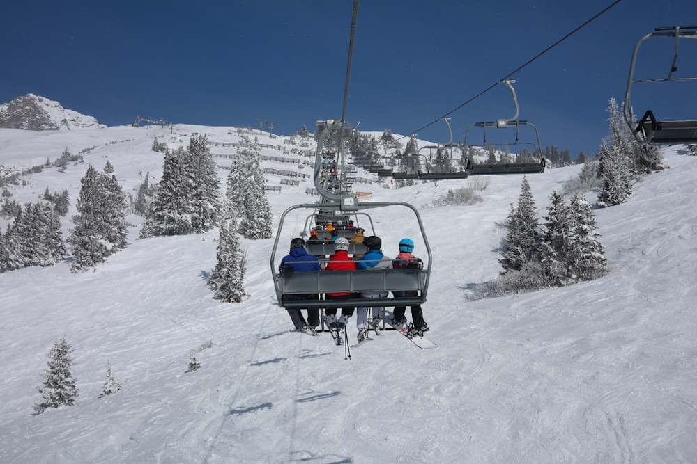 siege mecanique neige ski