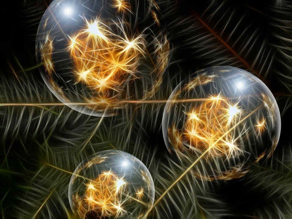lumieres noel boule dorée