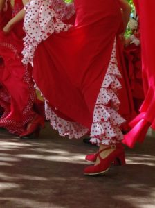 robes rouge andalouse danse