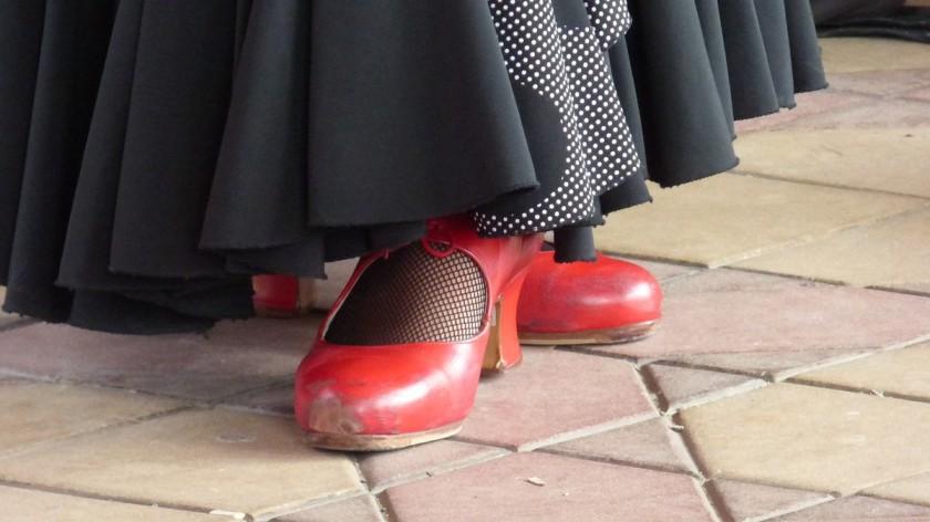 pieds tablao flamenco pose