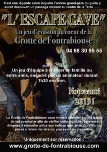 escape game grotte sortie originale pyrénées orientales