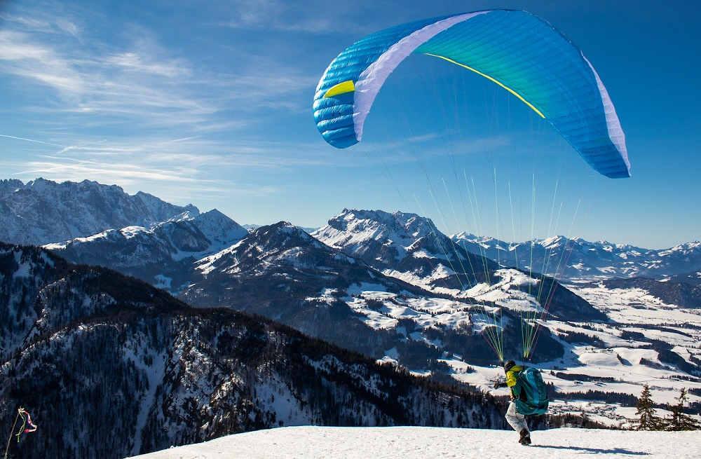 extrême vol air montagne neige loisir