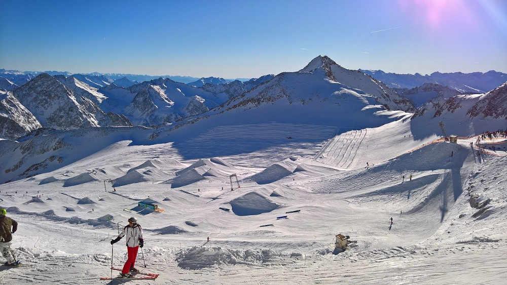 Font romeu ski compet neige paysage montagne