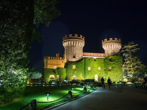 chateau peralada catalogne espagne nuit