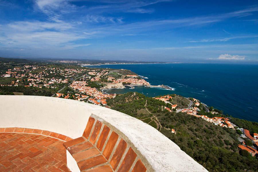collioure vue panoramique