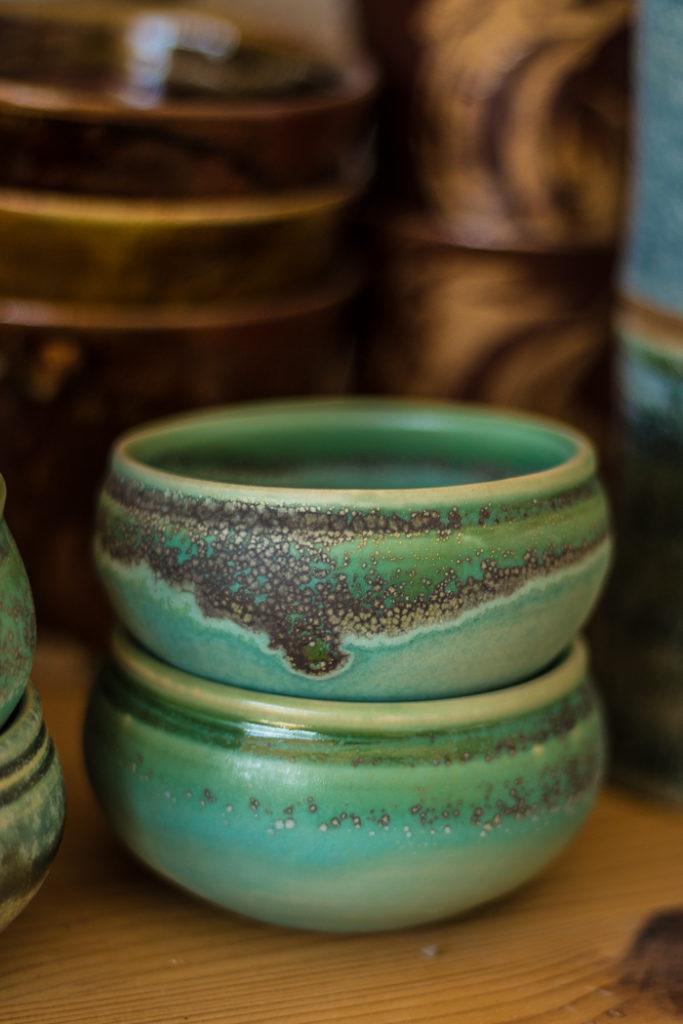 Créations céramiques bleues