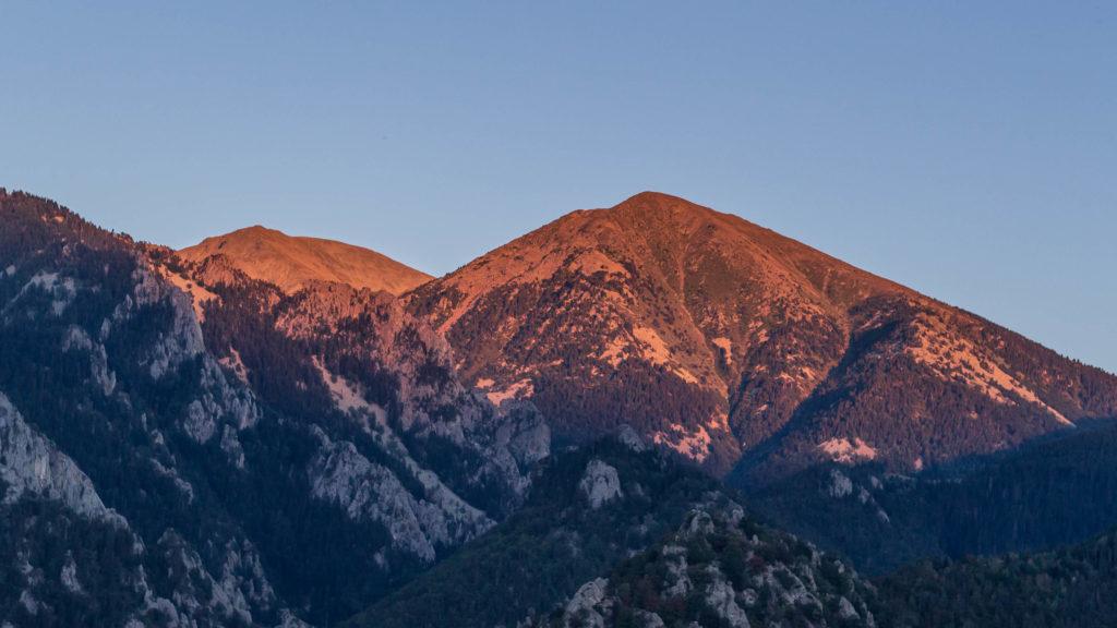 Coucher de soleil sur le Massif du Canigou