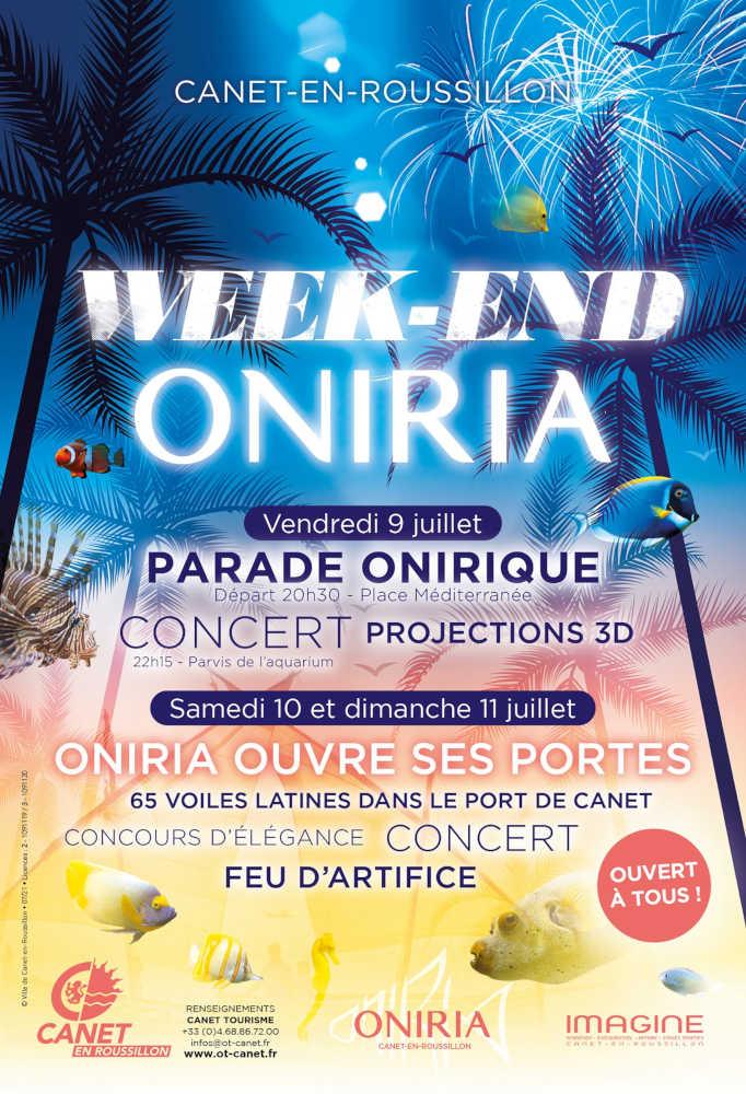 Fêtes Ouverture Oniria Canet-en-Roussillon